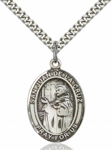 Men's Pewter Oval San Juan De La Cruz Medal [BLPW236]