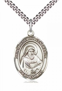 Men's Pewter Oval St. Bede the Venerable Medal [BLPW300]
