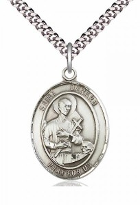 Men's Pewter Oval St. Gerard Majella Medal [BLPW059]