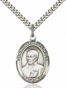 Men's Pewter Oval St. Ignatius of Loyola Medal [BLPW223]
