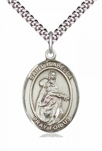 Men's Pewter Oval St. Isabella of Portugal Medal [BLPW250]