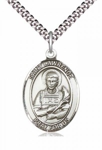 Men's Pewter Oval St. Lawrence Medal [BLPW084]