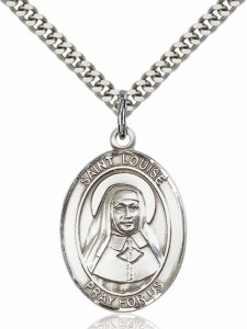 Men's Pewter Oval St. Louise De Marillac Medal [BLPW085]