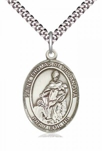 Men's Pewter Oval St. Pius X Medal [BLPW302]