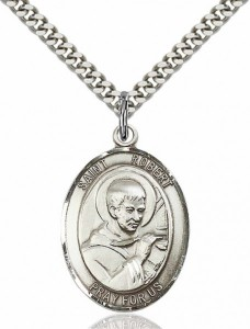 Men's Pewter Oval St. Robert Bellarmine Medal [BLPW124]