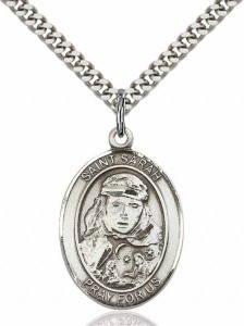 Men's Pewter Oval St. Sarah Medal [BLPW125]