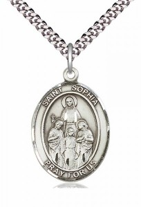 Men's Pewter Oval St. Sophia Medal [BLPW164]