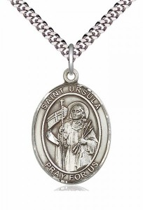 Men's Pewter Oval St. Ursula Medal [BLPW157]