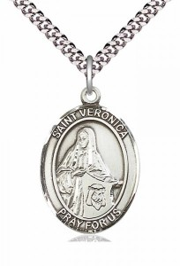 Men's Pewter Oval St. Veronica Medal [BLPW137]