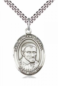 Men's Pewter Oval St. Vincent de Paul Medal [BLPW162]