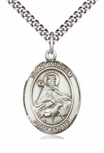 Men's Pewter Oval St. William of Rochester Medal [BLPW140]