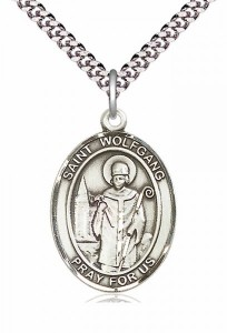Men's Pewter Oval St. Wolfgang Medal [BLPW320]
