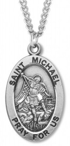 Heartland Mens Sterling Silver St Michael Police Officer Medal USA Made