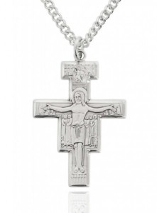 Men's Sterling Silver San Damiano Crucifix [MVS1003]