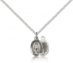 Miraculous Medal, Sterling Silver [BL4811]