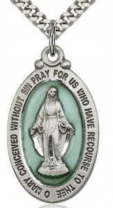 Miraculous Medal, Sterling Silver [BL5908]