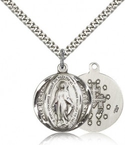 Miraculous Medal, Sterling Silver [BL4021]