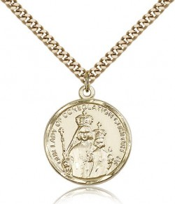 Our Lady of Consolation Medal, Gold Filled [BL4061]