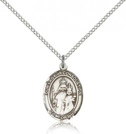 Our Lady of Consolation Medal, Sterling Silver, Medium [BL0280]