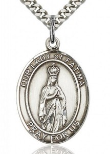 Our Lady of Fatima Medal, Sterling Silver, Large [BL0288]