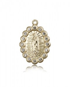 Our Lady of Guadalupe Medal, 14 Karat Gold [BL5302]