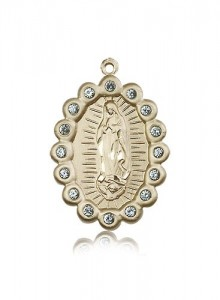 Our Lady of Guadalupe Medal, 14 Karat Gold [BL5314]