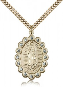 Our Lady of Guadalupe Medal, Gold Filled [BL5313]