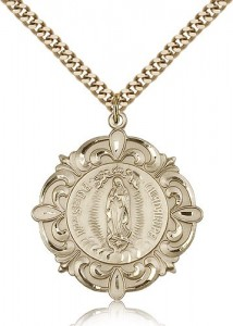 Our Lady of Guadalupe Medal, Gold Filled [BL6093]