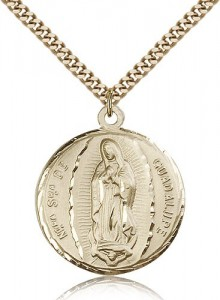 Our Lady of Guadalupe Medal, Gold Filled [BL6311]