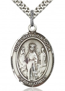 Our Lady of Knock Medal, Sterling Silver, Large [BL0333]
