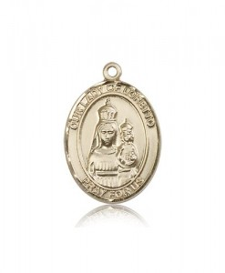 Our Lady of Loretto Medal, 14 Karat Gold, Large [BL0363]