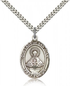 Our Lady of San Juan Medal, Sterling Silver, Large [BL0450]