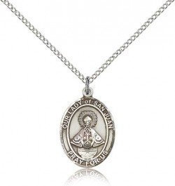 Our Lady of San Juan Medal, Sterling Silver, Medium [BL0451]