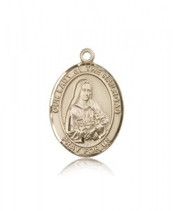 Our Lady of the Railroad Medal, 14 Karat Gold, Large [BL0462]