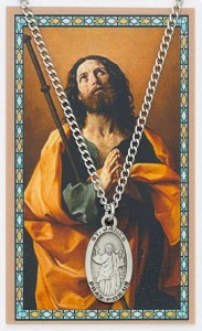 Oval St. James the Greater Medal and Prayer Card Set [MPC0012]