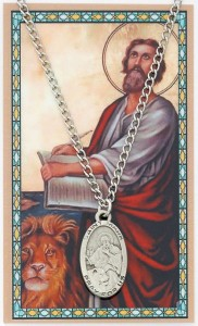 Oval St. Mark Medal and Prayer Card Set [MPC0014]
