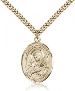 Mater Dolorosa Medal, Gold Filled, Large [BL0231]