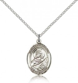 St. Perpetua Medal, Sterling Silver, Medium [BL3049]