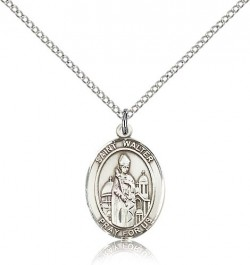 St. Walter of Pontnoise Medal, Sterling Silver, Medium [BL3920]