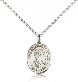 St. Adrian of Nicomedia Medal, Sterling Silver, Medium [BL0574]