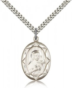 St. Theresa Medal, Sterling Silver [BL4890]