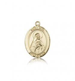 St. Rita of Cascia Medal, 14 Karat Gold, Medium [BL3250]