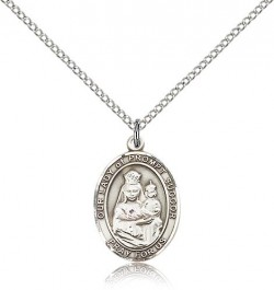 Our Lady of Prompt Succor Medal, Sterling Silver, Medium [BL0433]