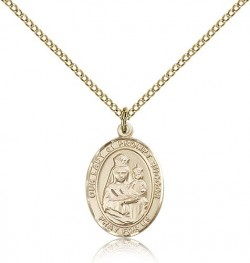 Our Lady of Prompt Succor Medal, Gold Filled, Medium [BL0430]