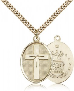 Air Force Cross Pendant, Gold Filled [BL4823]