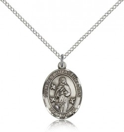 Our Lady of Assumption Medal, Sterling Silver, Medium [BL0271]