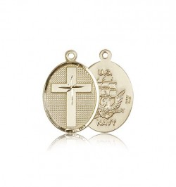 Navy Cross Pendant, 14 Karat Gold [BL5018]