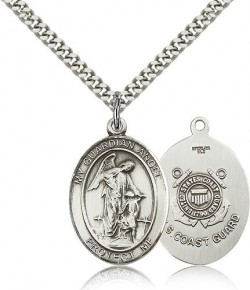Guardian Angel Coast Guard Medal, Sterling Silver, Large [BL0100]