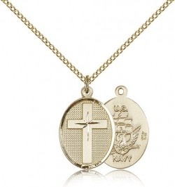 Navy Cross Pendant, Gold Filled [BL5011]