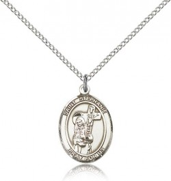 St. Stephanie Medal, Sterling Silver, Medium [BL3704]